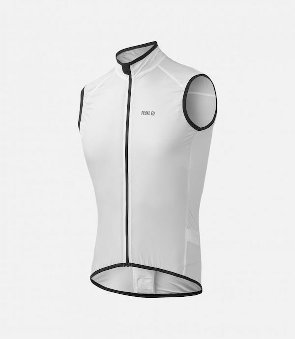 PEdALED VESPER PACKABLE VEST WHITE   L