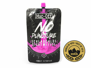 Muc Off No Puncture Hassle 140ml Pouch Only  nos pink