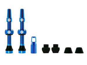 Muc Off Tubeless Valve Kit Universal for MTB & Road   44 blue